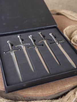 Brieföffner-Set GoT Miniaturschwerter
