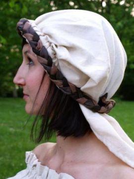 Haarband mit Schleier braun