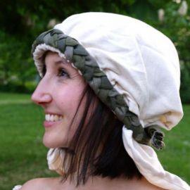 Haarband mit Schleier grün