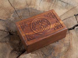 """Holztruhe """"keltischer Knoten"""""""