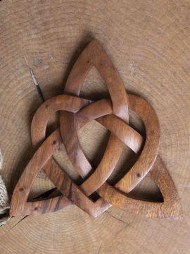 Holz-Wandschmuck Keltischer Liebesknoten