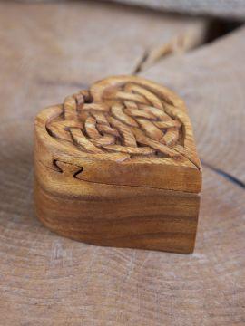 Holzdose Keltisches Herz