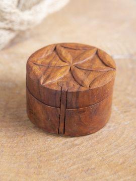 Holzdose Blume des Lebens
