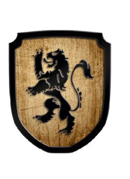 Holzschild Löwe