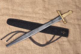 Ritterschwert mit Filzscheide
