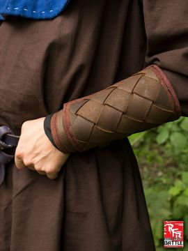 Wikinger-Armschienen aus Leder braun