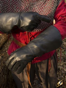 Falknerhandschuhe schwarz
