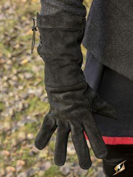 Wildlederhandschuhe schwarz S
