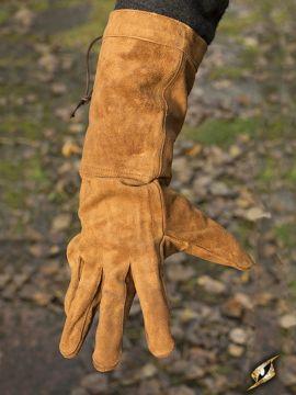 Wildlederhandschuhe braun