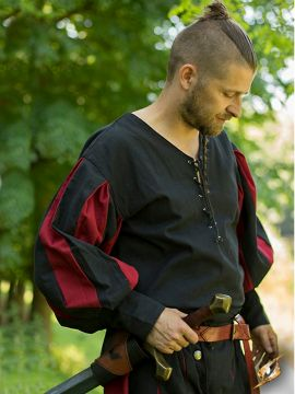 Hemd Landsknecht schwarz-rot