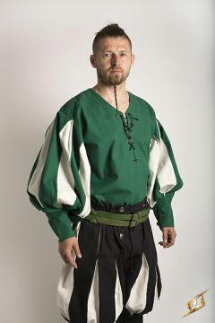 Hemd Landsknecht grün-weiß