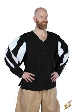 Hemd Landsknecht schwarz-weiß