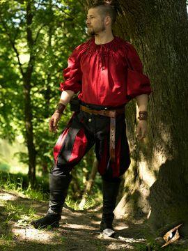Hose Landsknecht schwarz-rot