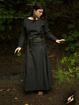 Kleid mit Schnürung schwarz