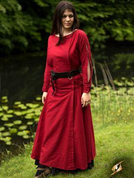 Kleid mit Schnürung rot
