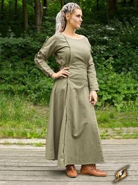 Kleid mit Schnürung grün