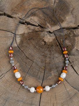 Wikingerkette mit bunten Perlen