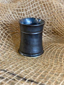 Keramik Schnapsbecher blau-grau