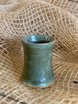 Keramik Schnapsbecher grün