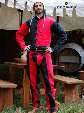 Imperialis Landsknecht-Hose rot-schwarz
