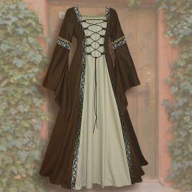 Kleid Iris braun-sand