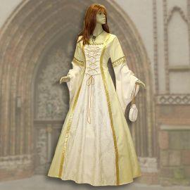 Kleid Iris gelb-creme