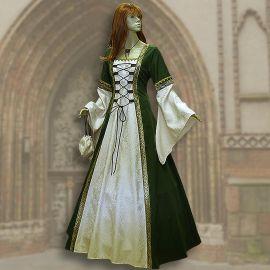 Kleid Iris grün-creme