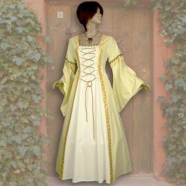 Kleid Iris gelb-weiß