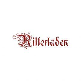 Kleid Iris blau-weiß