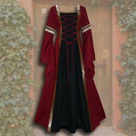 Kleid Iris rot-schwarz