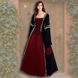 Kleid Iris schwarz-rot