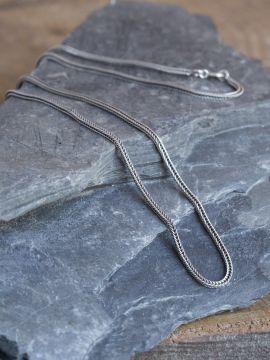 Geflochtene Silberkette 50 cm