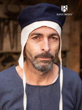 Kappe Hugo Wolle blau