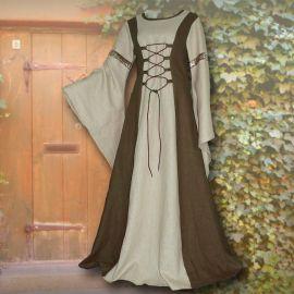 Kleid Katharina oliv-sand