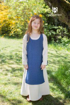 Kinderüberkleid Ylva meerblau