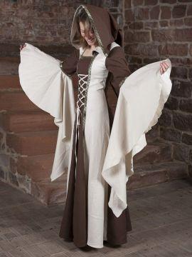 Mittelalterkleid Anna in natur-braun