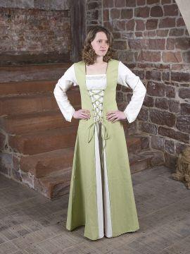 Mittelalterkleid Jacqueline hellgrün-creme