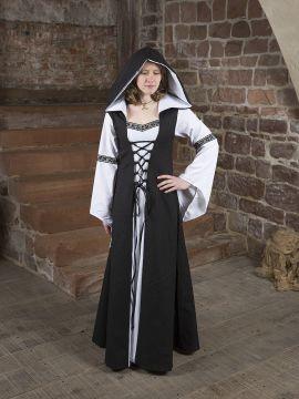 Mittelalterkleid Irmel schwarz-weiß