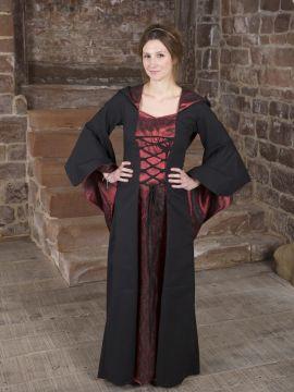 Baumwollkleid Gretlin schwarz-rot