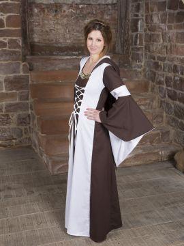 Baumwollkleid Minna braun-weiß