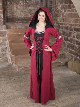 Mittelalterkleid Helena schwarz-rot