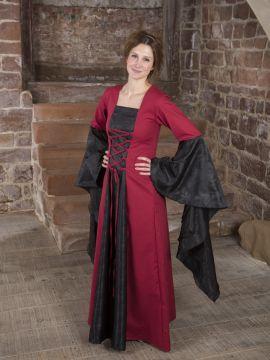 Mittelalterkleid Marlene schwarz-rot