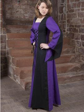Mittelalterkleid Sonja schwarz-lila