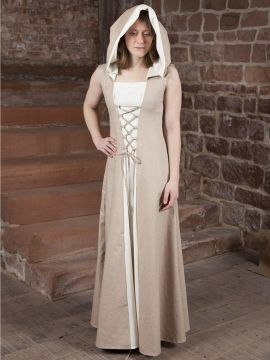 Mittelalterkleid Loris creme-weiß