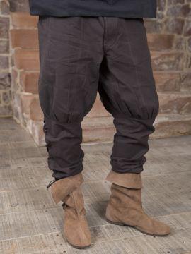 Hose mit Beinschnürung braun