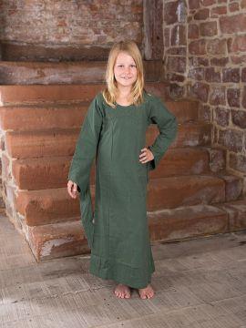Kinderkleid aus Baumwolle weinrot | 122/128