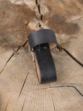 Trinkhornhalter aus Leder schwarz