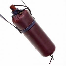 Trinkflasche aus Leder braun