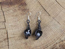 Ohrringe mit Obsidian
