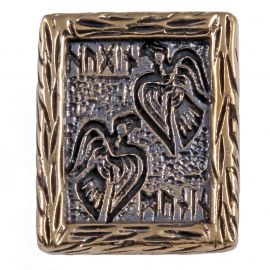 Rune HUGIN und MUNIN aus Bronze